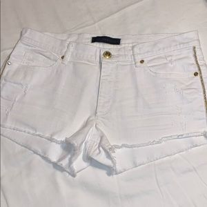 Juicy couture white jean shorts